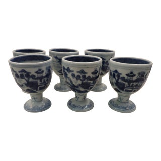 Chinese Canton Egg Cups - Set of 6