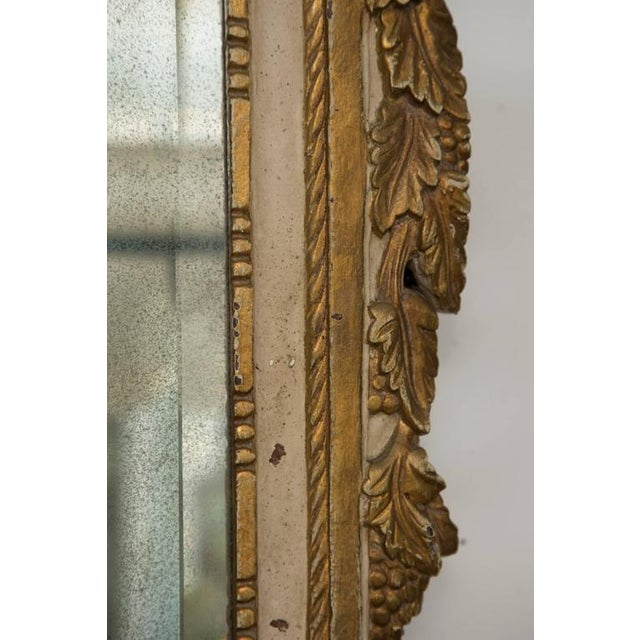 Louis XVI Style Parcel-Gilt and Cream-Painted Wall Mirror - Image 4 of 8