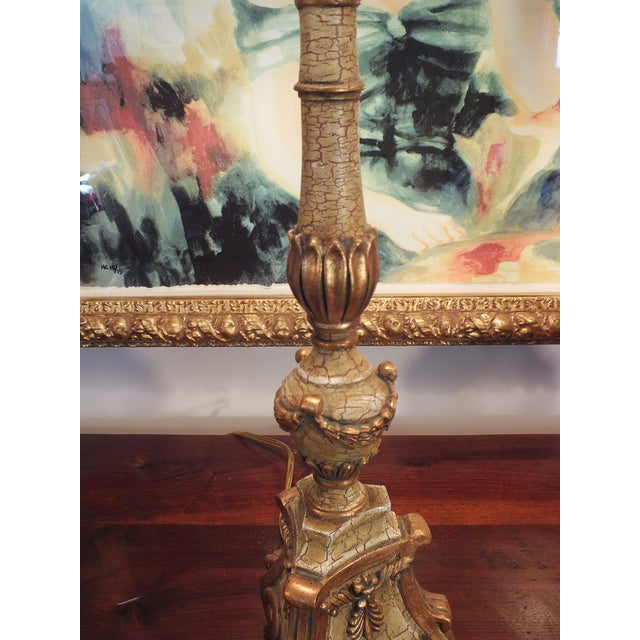 Image of Italian Florentine Candlestick Lamps - a Pair