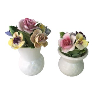 Royal Adderley Bone China Flowers - Set of 2