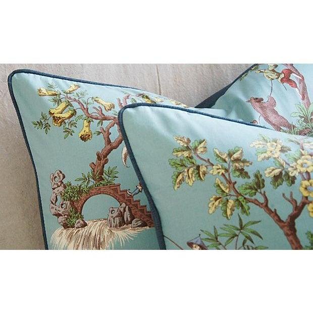 Italian Scalamandre Chinoiserie Pillows - Pair - Image 7 of 9