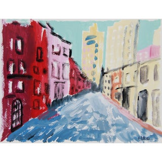 'Greenwich Village #1' Cityscape by Cleo