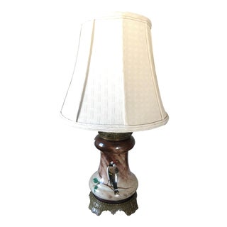 Baccarat Hand Painted Bird Table Lamp