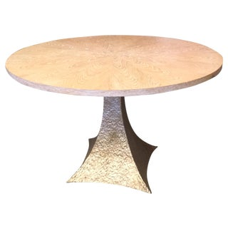 Cerused Oak Round Pedestal Table