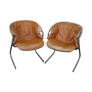 Gastone Rinaldi Wire Frame Armchairs - A Pair