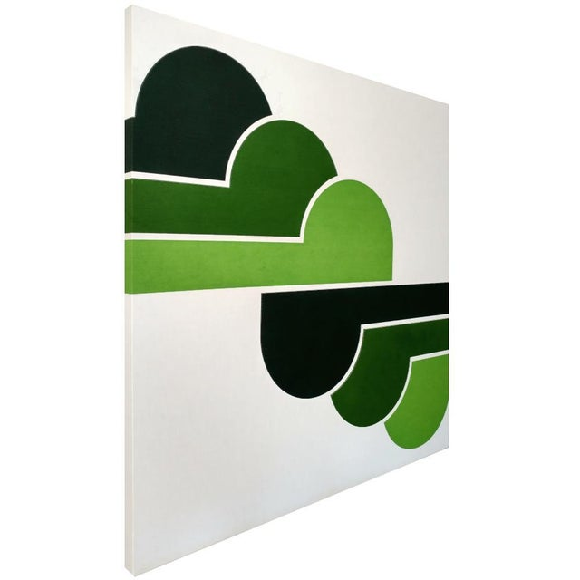 Image of 1970s Green Clouds Serigraph
