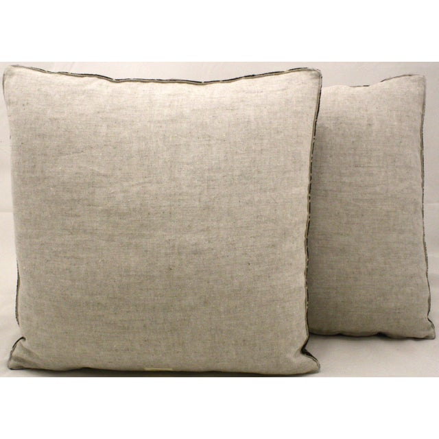 African Black Mud Cloth Pillows - A Pair - Image 3 of 3