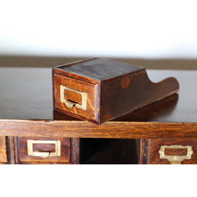1900 Antique Oak Desk Top - Image 5 of 7