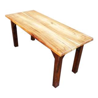 Rustic Wood Grain Slab Minimalist Dining Table Desk