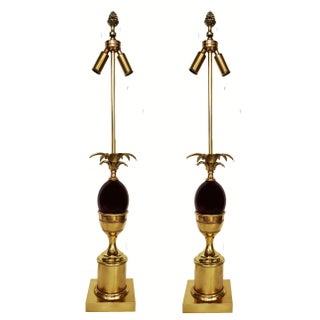Vintage Maison Charles French Table Lamps - Pair