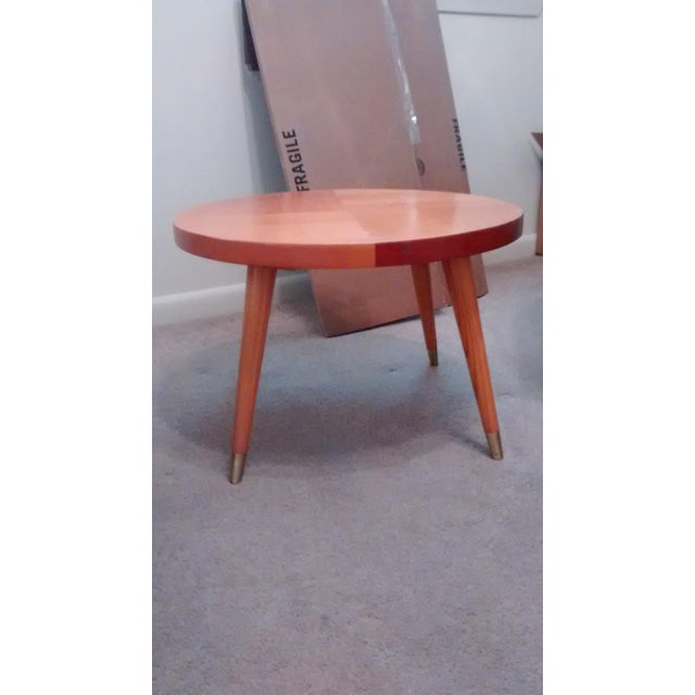 Image of Mid Century Modern Round Side Table