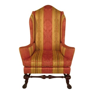 Baker Stately Homes Collection Mahogany Wing Chair