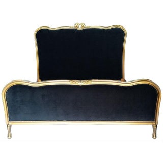 French Black & Gold Queen Bedframe