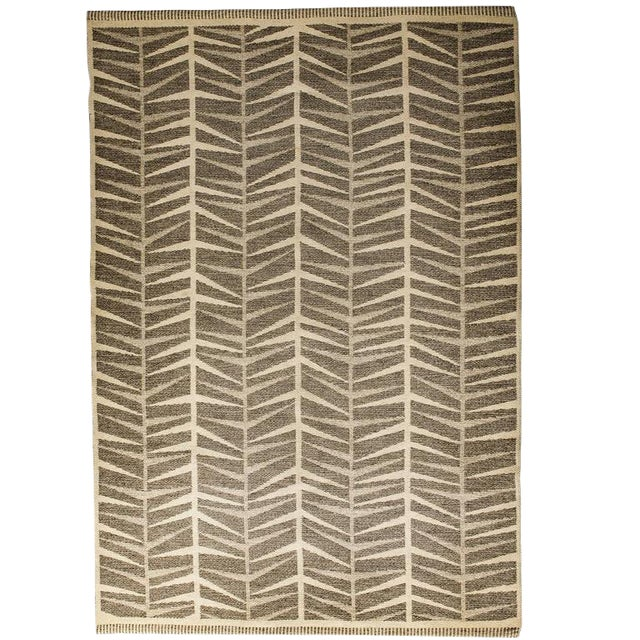 Vintage Ingrid Dessau Flat-Weave Swedish Carpet - Image 1 of 5