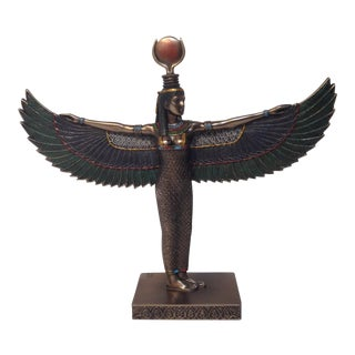 Hand Painted Egyptian Isis Figurine