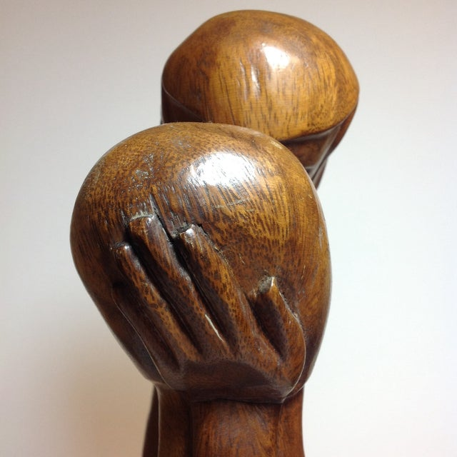 Mid-Century Carved Sculpture - Image 7 of 9