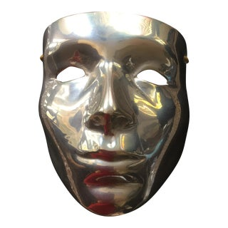 Vintage Solid Brass Mask Wall Accent