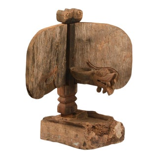 Balinese Wood Carved Candle Stand
