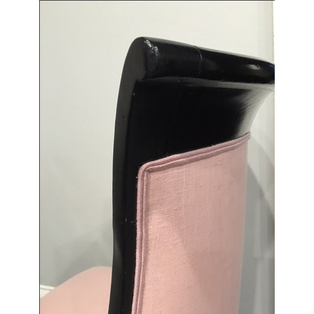 Image of Pink 19th Century Ebonized Chair