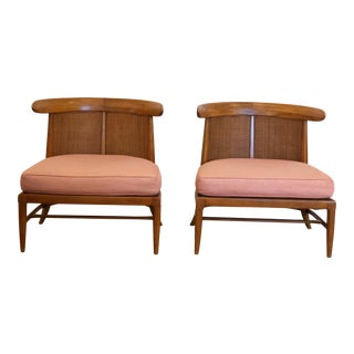 Tomlinson Sophisticate Slipper Chairs - A Pair