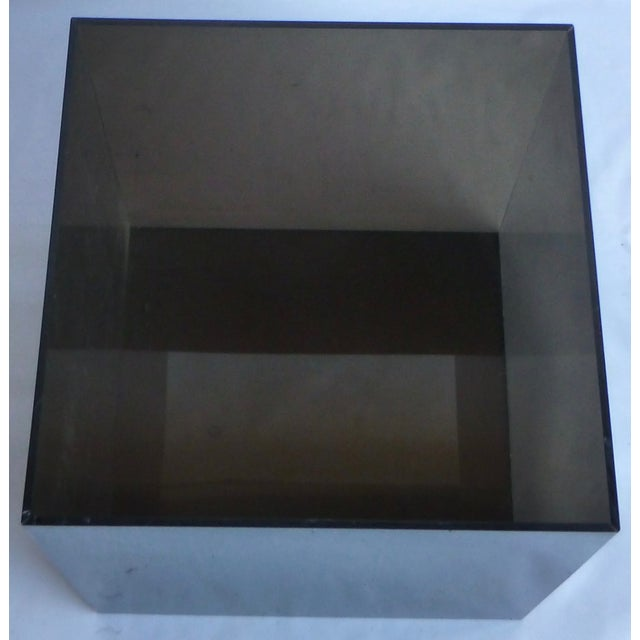 Smoked Lucite Storage Cube - Image 5 of 7