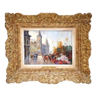 Mid-20th Century French Paris Scenes Paintings - A Pair