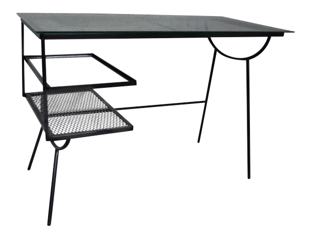 George Nelson For Arbuck Desk Co. Iron U0026 Glass Writing Desk   Image 1 Of