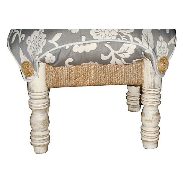 Pillow-Top Ottomans in Gray/White - A Pair - Image 3 of 4