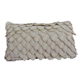 Embroidered & Layered Detail Lumbar Throw Pillow