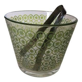 Mid-Century Modern Ice Bucket & Tongs
