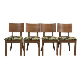 Arhaus Green Patterned Dining Chairs - Set of 4