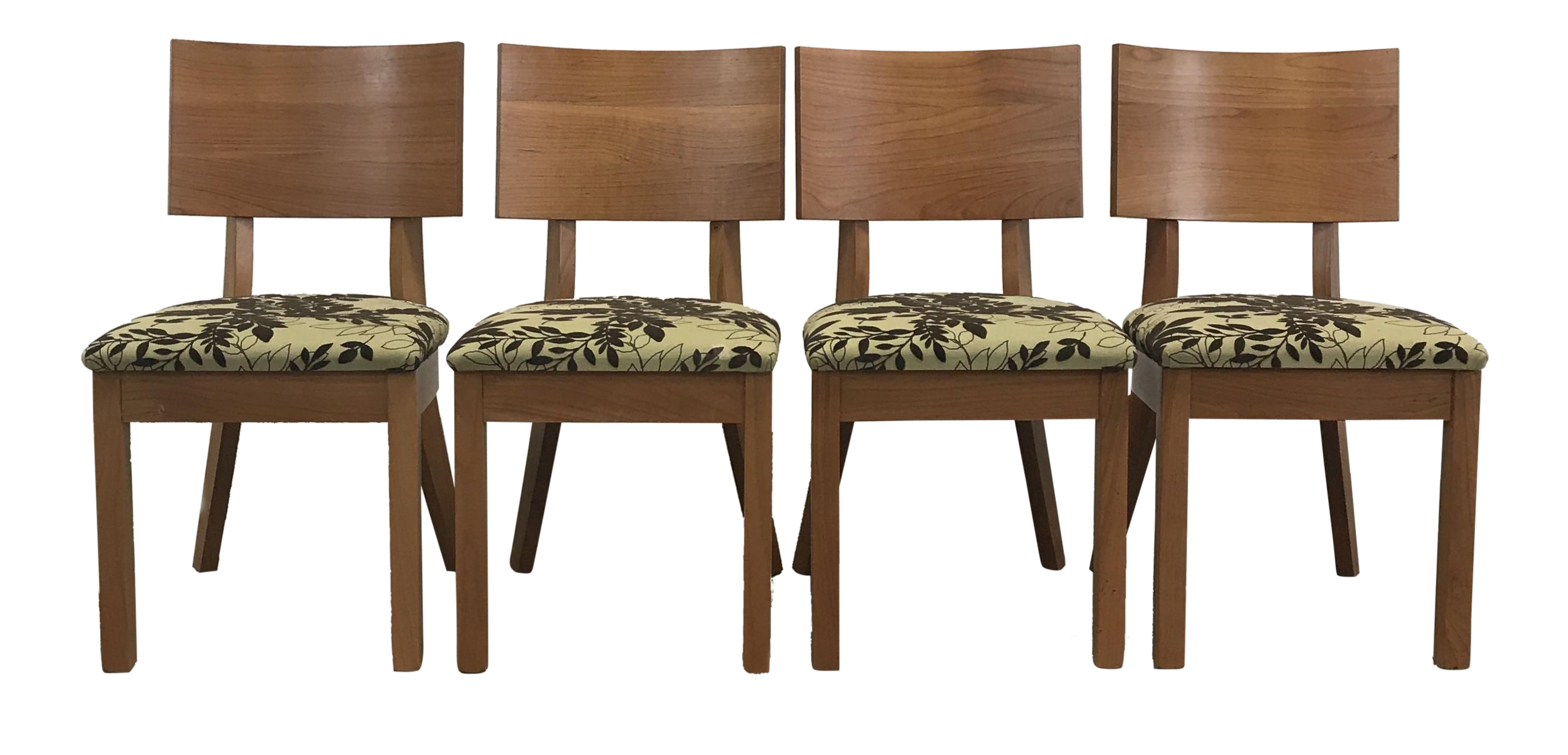 Arhaus Green Patterned Dining Chairs   Set Of 4