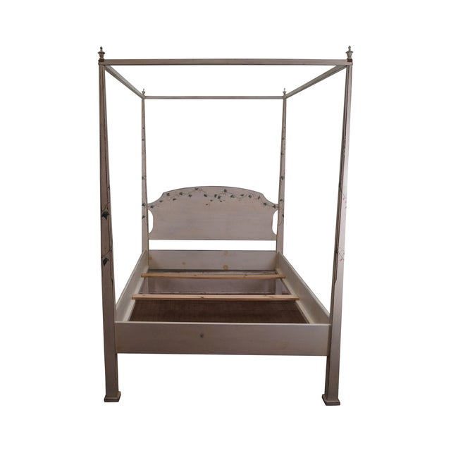 Hand Painted Quality Full Size Poster Canopy Bed - Image 1 of 10