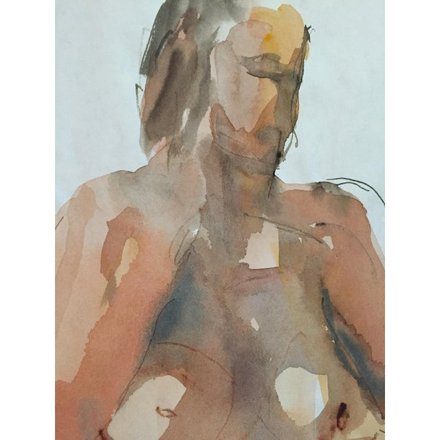Thelma Corbin Moody Female Nude Standing c. 1970's Painting - Image 3 of 5