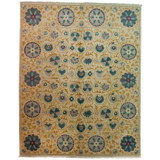 """Suzani Hand-Knotted Rug - 8'1"""" x 10'7"""""""