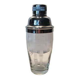 Vintage Noritake Sasaki Crystal Cocktail Shaker
