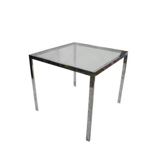 1970's Flat Bar & Glass Side Table