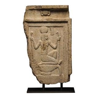 Limestone Stele Depicting the God Heh