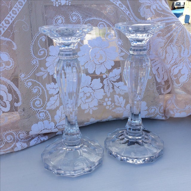 Crystal Candle Sticks - Pair - Image 4 of 4