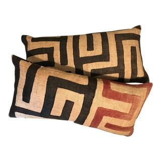 Geometric African Kuba Cloth Pillows - Pair