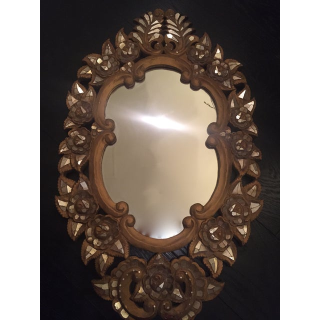 Image of Gold Mirrored Glass Mosaic Mirror