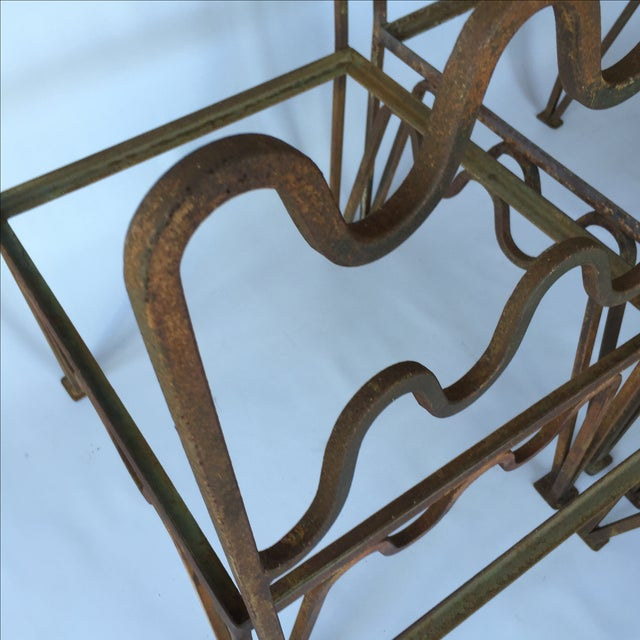 1940s Sculptural Modernist Iron Patio Chairs - 4 - Image 10 of 11