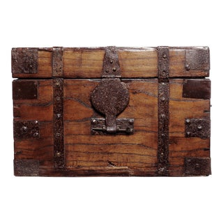 Vintage Brown Wooden Trunk