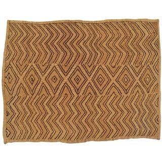 Bakuba Cloth Hand Woven Mat - 1′2″ × 1′6″