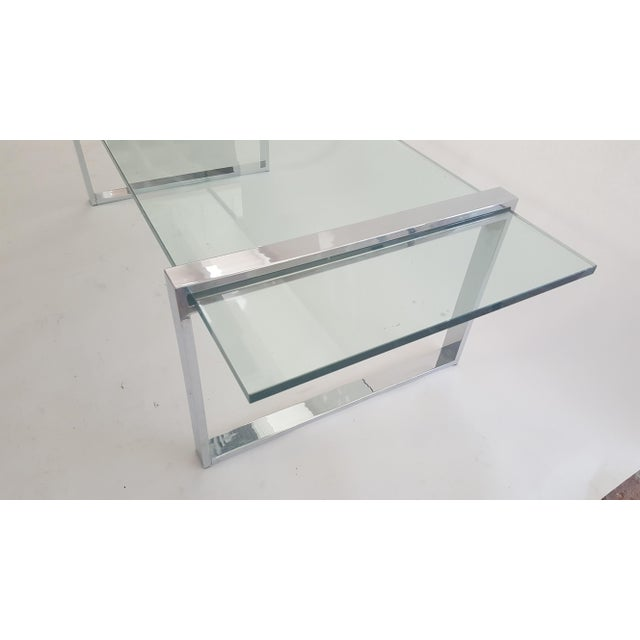 Charles Hollis Jones Box Chrome And Glass Coffee Table Chairish
