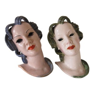 Austrian Art Deco Heads - A Pair
