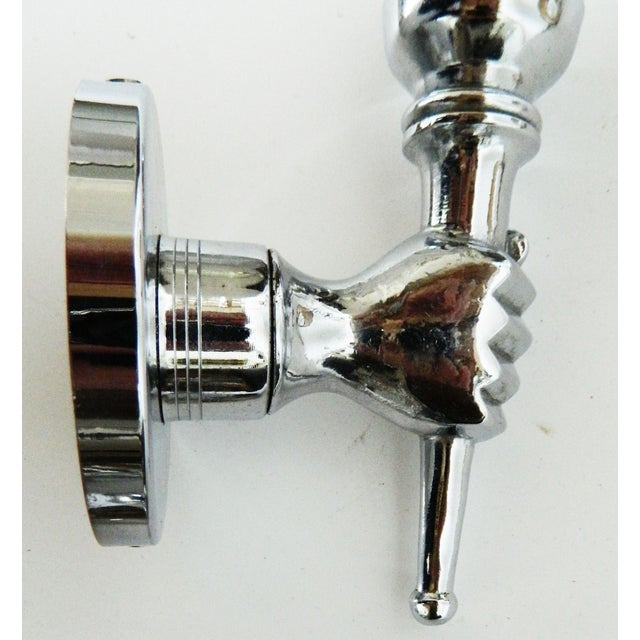 Image of André Arbus French Nickel Plated Sconces - A Pair