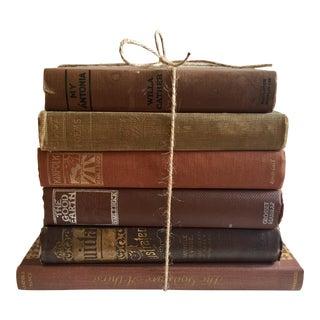 Brown Vintage Novels - Set of 6