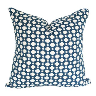 Betwixt Indigo Blue Pillow Cover
