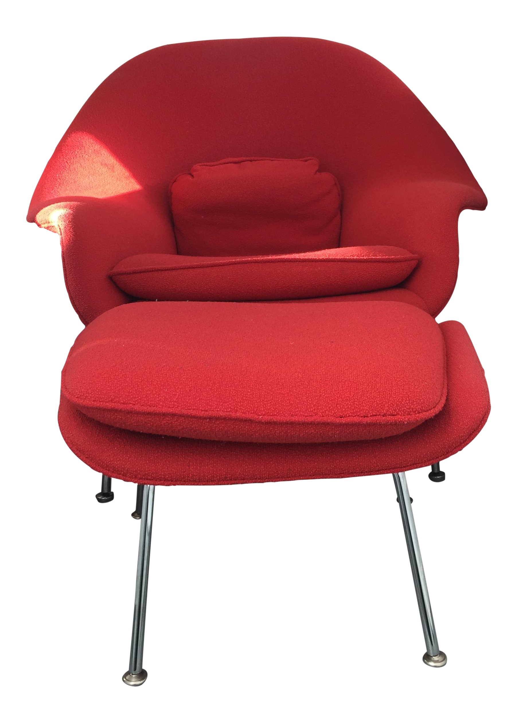 eero saarinen for knoll womb chair u0026 ottoman image 5
